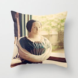 Woman in a Window Throw Pillow