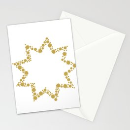 9 Points of Gold Stationery Cards