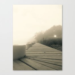A Foggy Morning on Albemarle Sound Canvas Print