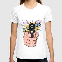 comics T-shirts featuring gun comics  by mark ashkenazi