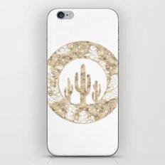 Cactus Desert Nights Gold iPhone Skin