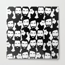 Beards Beards Beards Metal Print