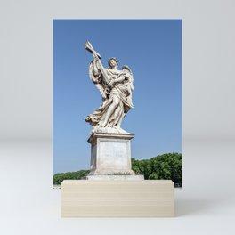 Angel with the Cross at the Sant'Angelo bridge - Rome, Italy Mini Art Print