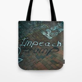 Spray paint: Impeach Trump Tote Bag