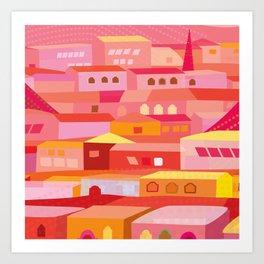 Houses Pattern Art Print