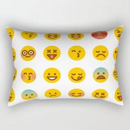 Cute Set of Emojis Rectangular Pillow