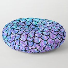 Purples & Blues Mermaid scales Floor Pillow