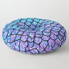 Purples & Blues Mermaid scales Floor Pillow