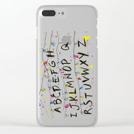 Alphabet Wall Christmas Lights Clear iPhone Case