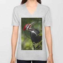 Pileated Woodpecker 6340 Unisex V-Neck