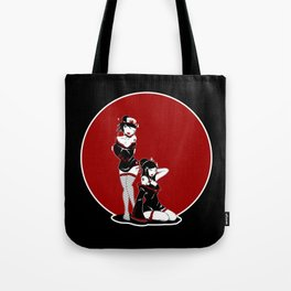 Two Geisha Pinups Tote Bag