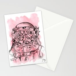 Head On The Moon Pink Stationery Cards