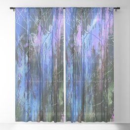 Sketchy Splashed Paint 3 Sheer Curtain