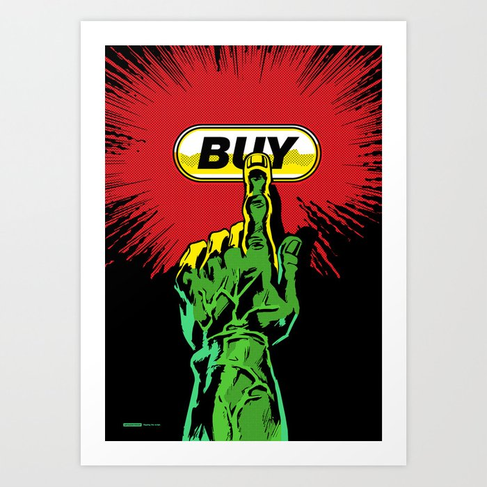 Comic Hands - Buy (Hulk Edition) Art Print