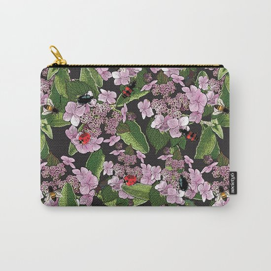 Floral insects pattern Carry-All Pouch