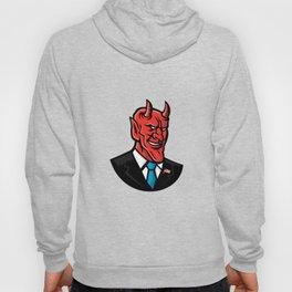 Devil American Businessman Mascot Hoody