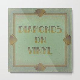 Diamonds on Vinyl Metal Print