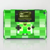 gameboy iPad Cases featuring Gameboy Color Green Creeper by Veylow