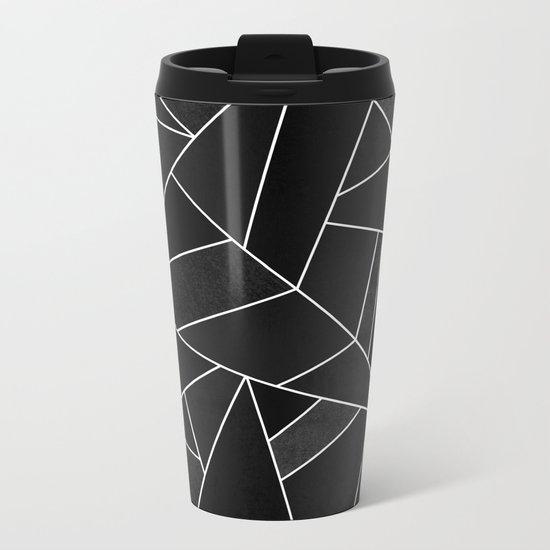 Black Stone Metal Travel Mug