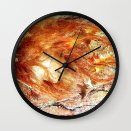 A Gust of Autumn Wind portrait painting by Lucien Levy Dhurmer Wall Clock
