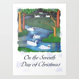 On The Seventh Day Of Christmas Art Print