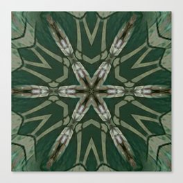 The Green Unsharp Mandala 5 Canvas Print