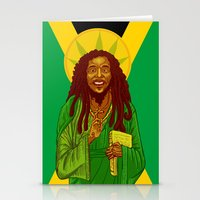 marley Stationery Cards featuring St. Marley by ofGiorge