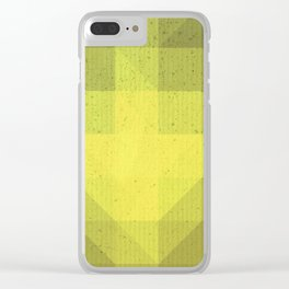 Kryptonite green poly pattern Clear iPhone Case