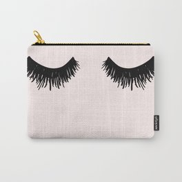 Eyelashes on Pink Lashes Art Carry-All Pouch