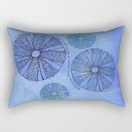 Blue Sea Urchin Rectangular Pillow