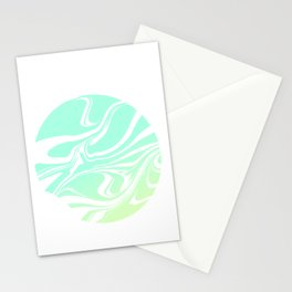 Round marble Stationery Cards