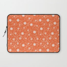 Orange and white floral pattern clemson football college university alumni varsity team fan Laptop Sleeve