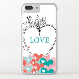 colorful love Clear iPhone Case