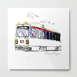 Septa Trolley Art: Philly Public Transportation Metal Print
