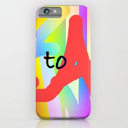 A TO Z ALPHABET LETTERS iPhone Case