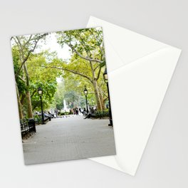 Morning Stroll in the Village Stationery Cards