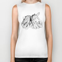 fawn Biker Tanks featuring Fawn by Libby Watkins Illustration