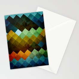 Abstract Cubes BYG Stationery Cards