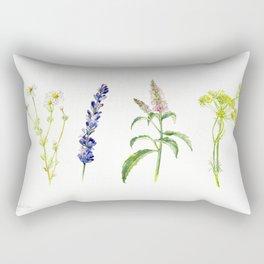 Tea Flowers Rectangular Pillow