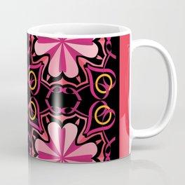 Lyrical Love Mandala Tiled - Pink Black Coffee Mug