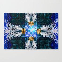 Embrace Cobalt Canvas Print