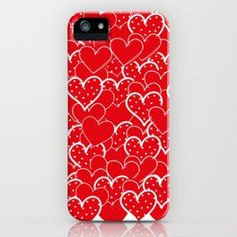 Valentine's background iPhone Case