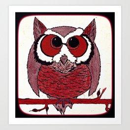 CHUBBY OWL Art Print
