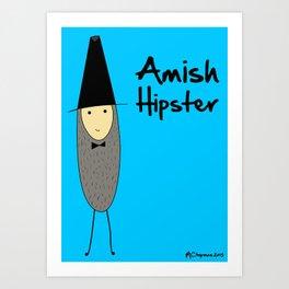 Amish Hipster Art Print