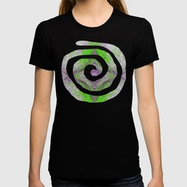 Psycho - Green Slime and Purple Fancy in a Reptile Universe by annmariescreations T-shirt