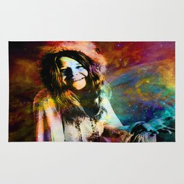 1970 Woman Of Rock And Roll By Annie Zeno Rug