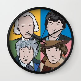 Doctors 1 to 4 Wall Clock
