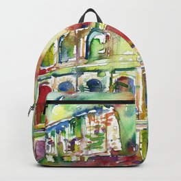 COLOSSEUM - watercolor painting Backpack