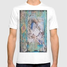 Feathers Mixed Media White MEDIUM Mens Fitted Tee