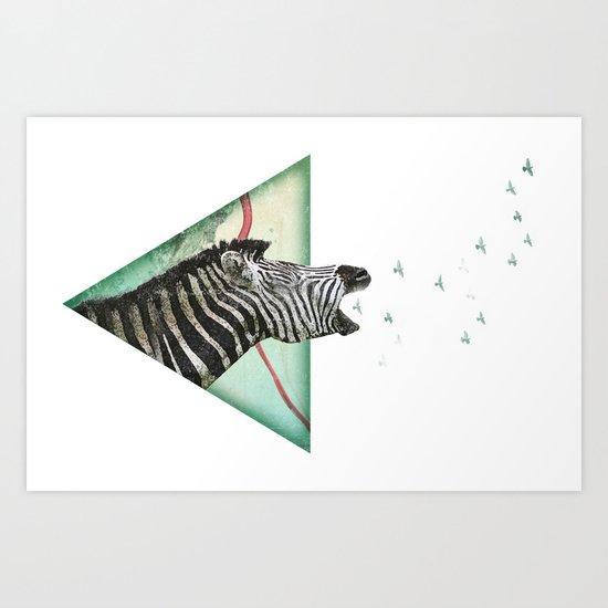 roaring silence Art Print